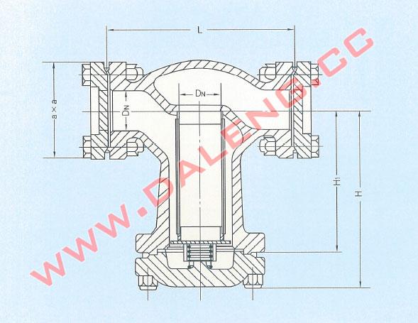 钢制氨液过滤器yg25-yg80-大连大冷冷冻机-大连冷冻